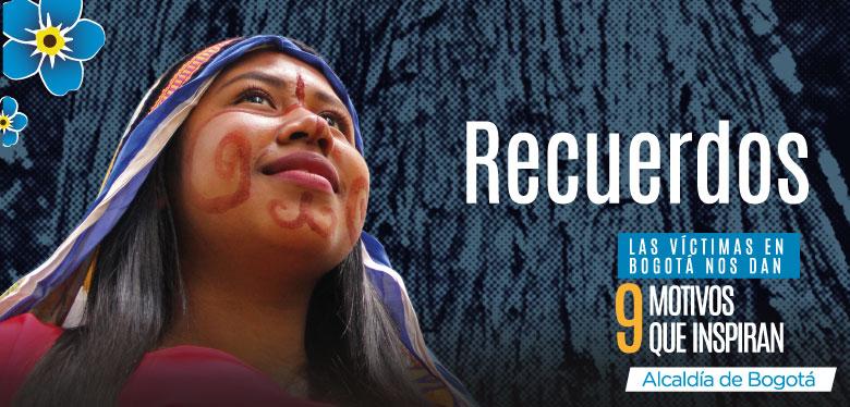 9 de abril, rostro de mujer indígena