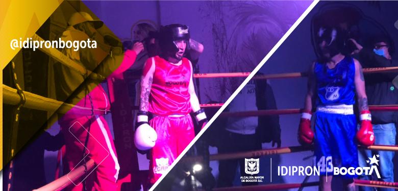 El ring de boxeo fue un espacio de respeto y paz entre las barras futboleras de Millonarios y Santa Fe