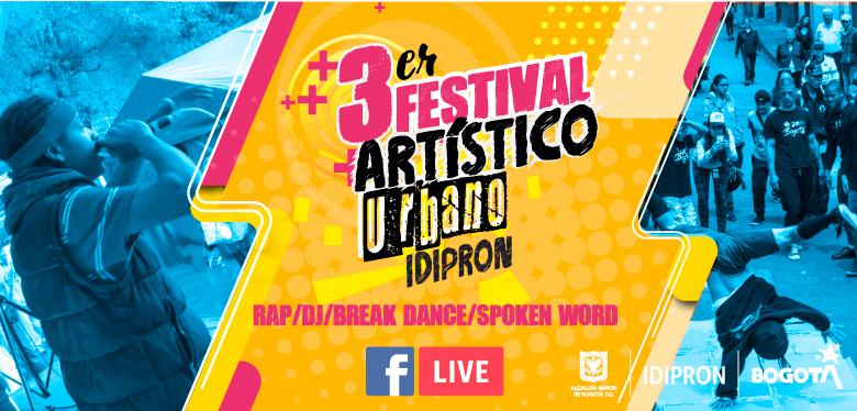 Invitación al tercer Festival Artístico de Música Urbana IDIPRON