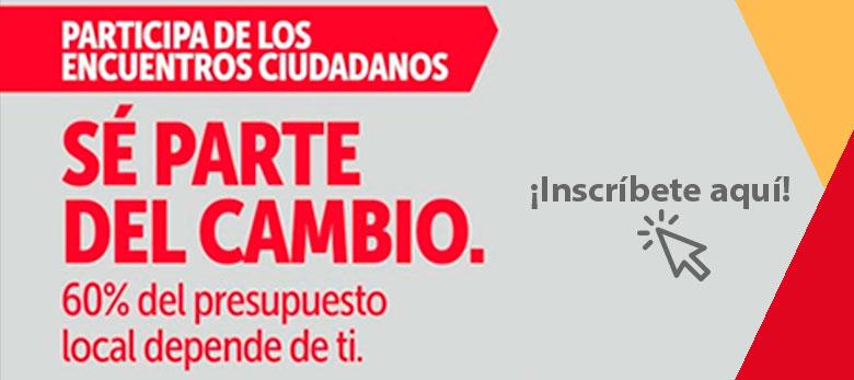 banner encuentros ciudadanos, se parte del cambio tienes hasta el 15 de marzo
