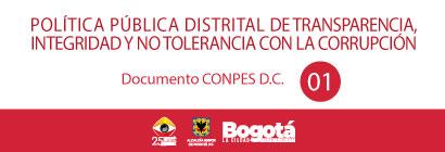 Banner con enlace a información sobre la Primera Política Pública Distrital de Transparencia, Integridad y No Tolerancia con la Corrupción