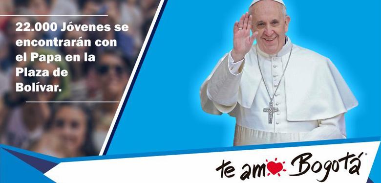 Cerca de 22.000 jóvenes se encontrarán con el Santo Padre en la Plaza de Bolívar