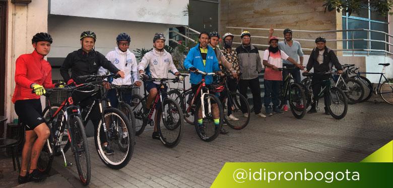 Reto Alto de Patios por ciclistas del IDIPRON
