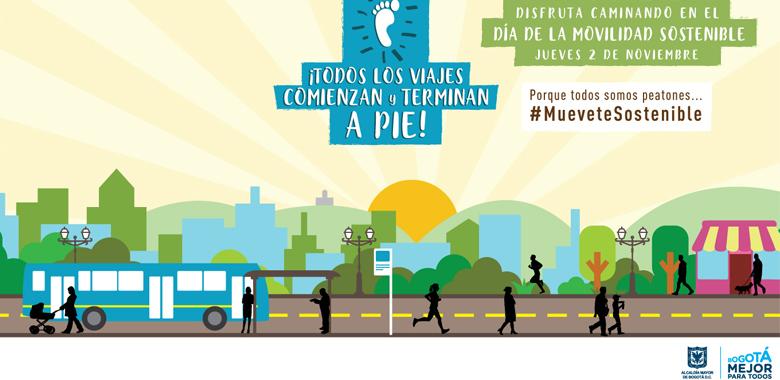 Día de la movilidad sostenible, imagen personas caminando