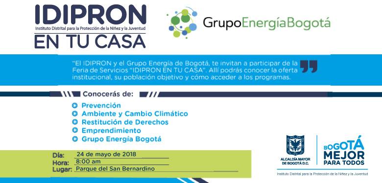 Invitación feria de servicios IDIPRON mayo 24 de 2018