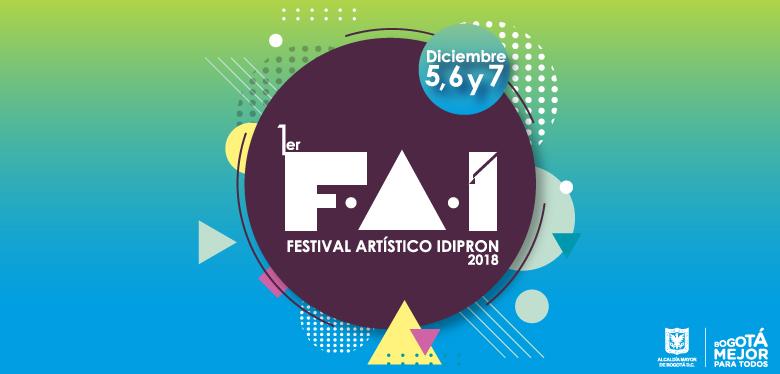 Invitación Festival Artístico IDIPRON 2018