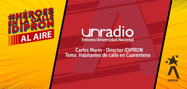 Invitación a escuchar entrevista al director del idipron Carlos Marín