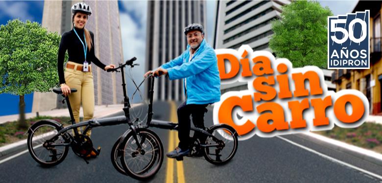 Director Wilfredo Grajales en bicicleta invitando al día sin carro 2018
