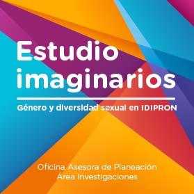 Fondo colores con titulo Estudio imaginarios Género y diversidad