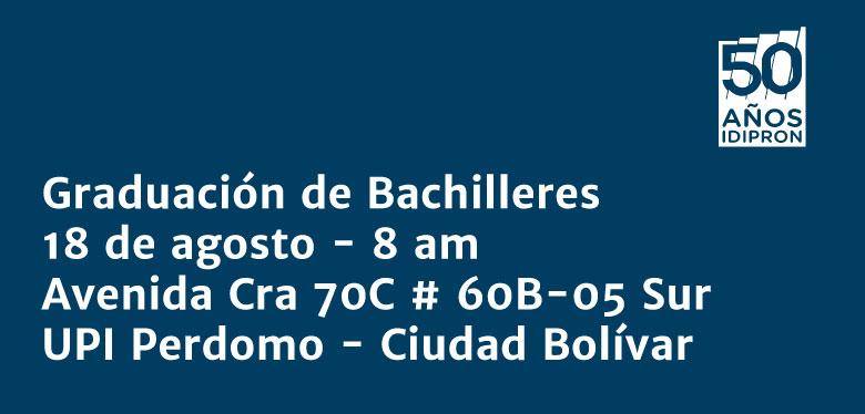 Graduación Bachilleres IDIPRON
