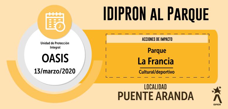 IDIPRON se toma Parque Francia - UPI Oasis