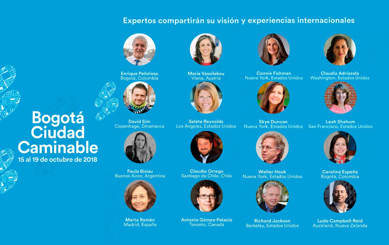 Conferencistas Bogotá ciudad caminable, conoce más dando clic sobre la imagen