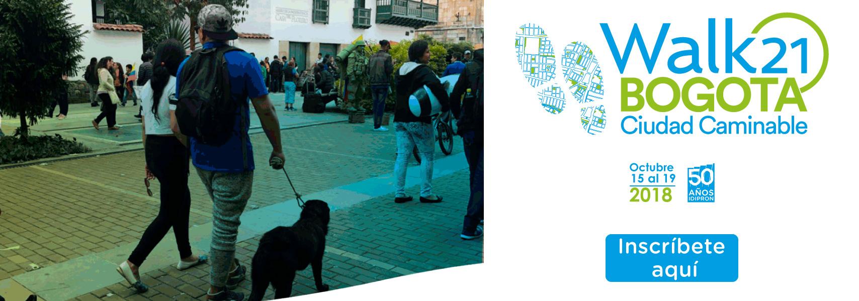 Invitación Walk 21 Bogotá 2018