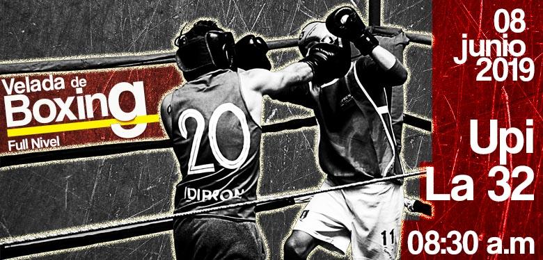 Imagen de boxeadores en ring - velada de boxeo upi la 32