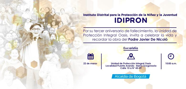 Invitación a eucaristía Padre Javier De Nicoló