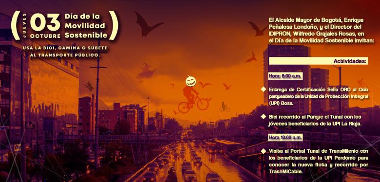 Invitación 3 de octubre día de la movilidad sostenible