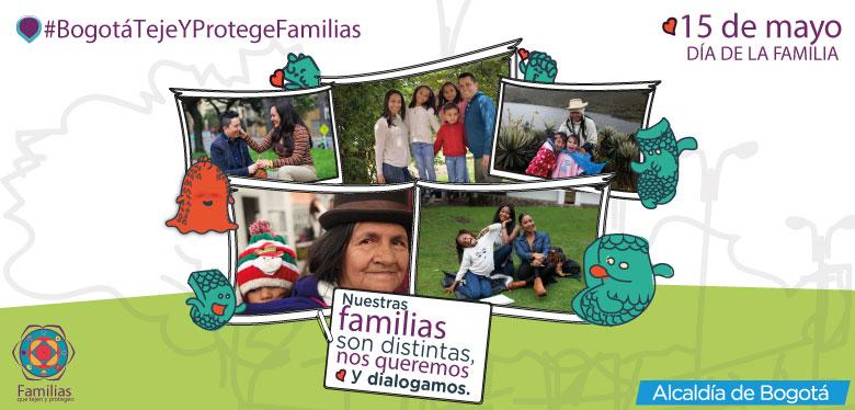 Imágenes de familias, celebración día de la familia