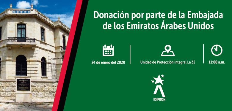 Invitación donación Embajada Emiratos Árabes Unidos