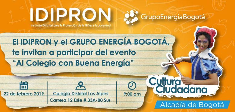 22 de febrero invitación Al Colegio con Buena Energía