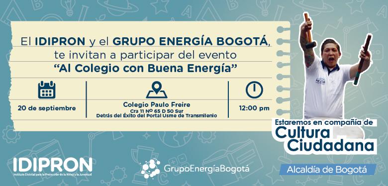 Invitación Feria de servicios Grupo Energía e IDIPRON 22 de septiembre