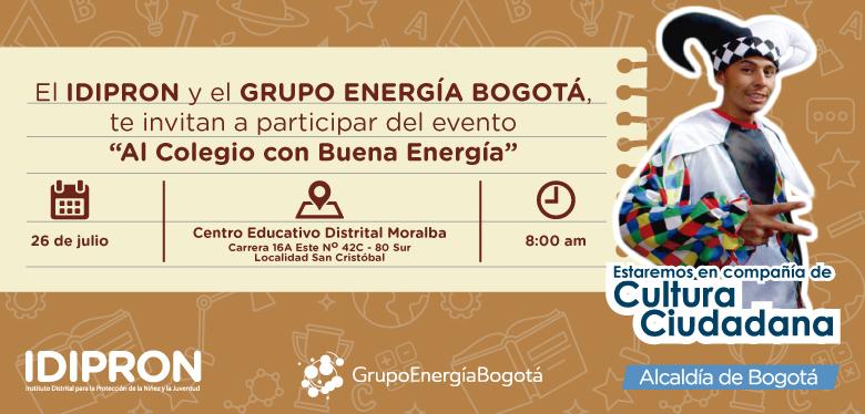 Invitación 26 de julio IDIPRON y el Grupo Energía Bogotá
