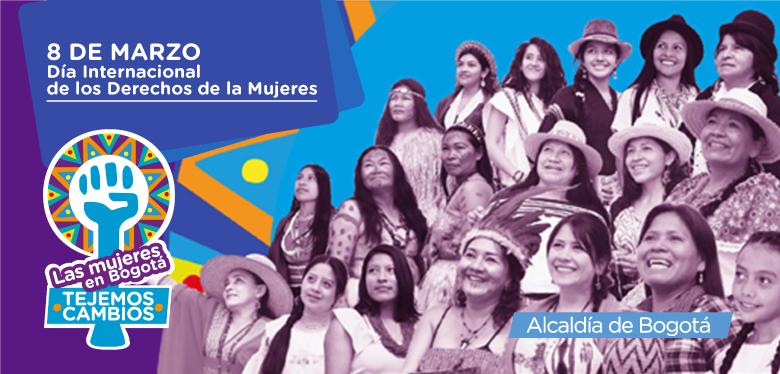 Imágen de mujeres en conmemoración día internacional día de la mujer