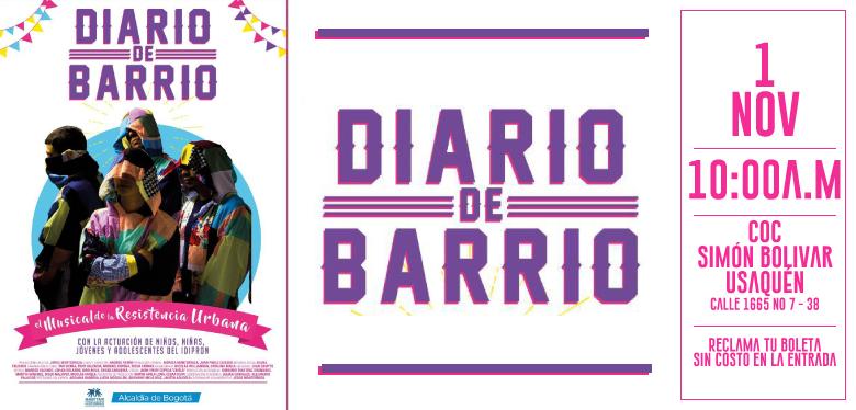 Obra musical Diario de Barrio tercera función