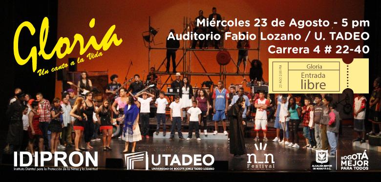 Imágen Presentación Gloria en Festival NN UTADEO