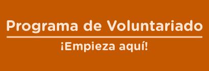 Imagen con textos para programa de voluntariado