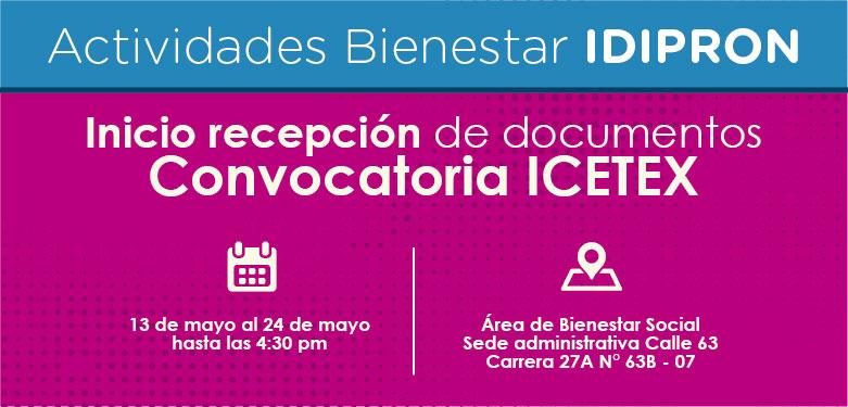Fechas de recepción de documentación ICETEX