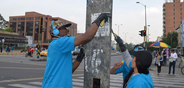 Recuperación sector norte de Bogotá jóvenes idipron