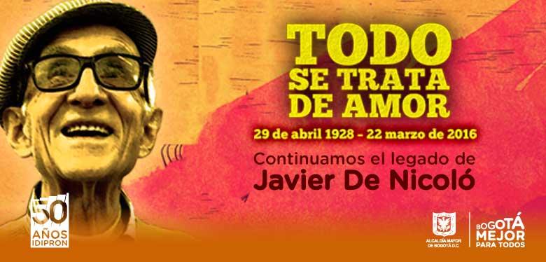 Rostro Javier De Nicoló conmemoración segundo aniversario fallecimiento