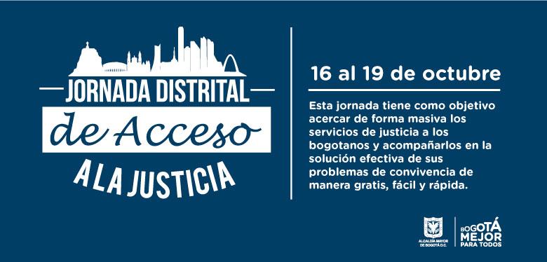 Invitación Jornada Distrital de Acceso a la Justicia