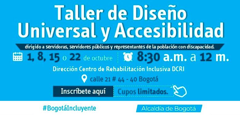 Invitación Taller de Diseño Universal y Accesibilidad
