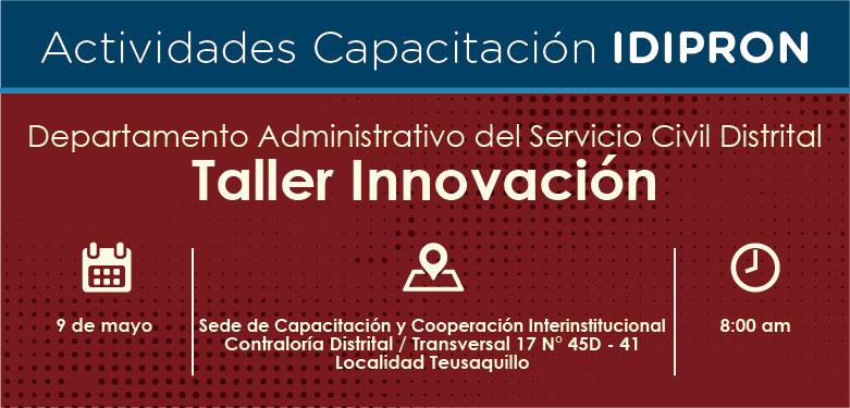 Invitación Taller Innovación 9 de mayo