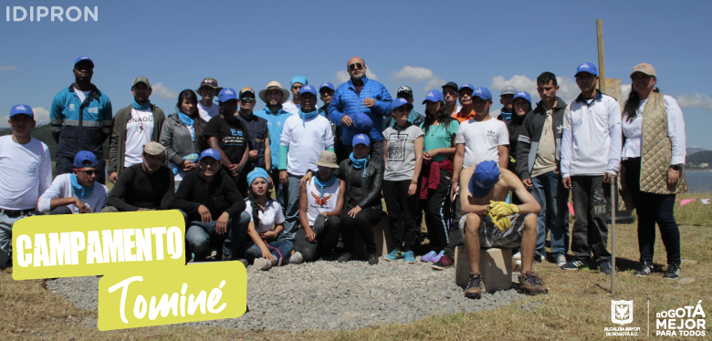 Jóvenes invitando a campamento en Tominé - Guatavita